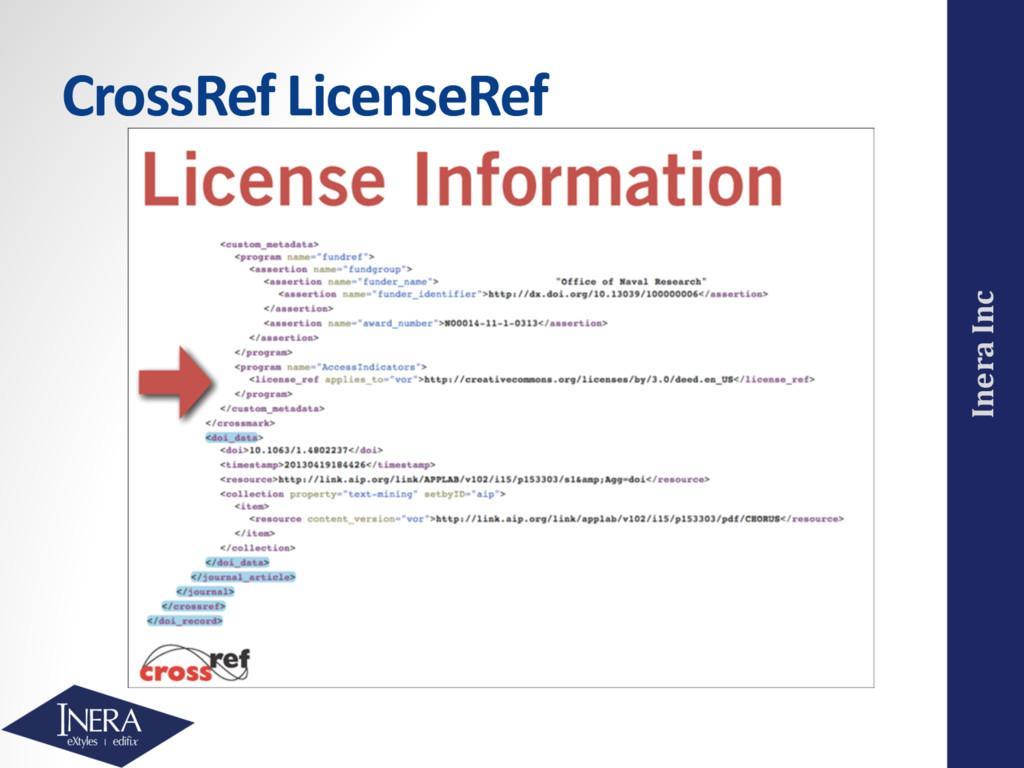 Inera Inc CrossRef LicenseRef