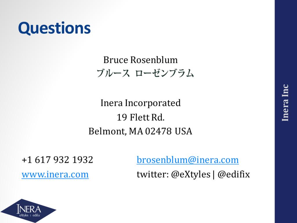 Inera Inc Questions Bruce Rosenblum Inera Incor...