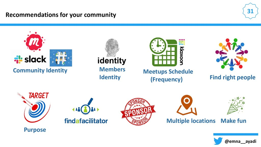 31 Recommendations for your community @emna__ay...