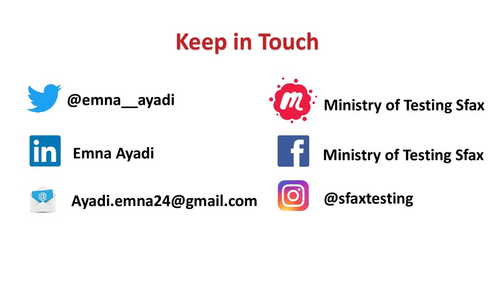 Keep in Touch @emna__ayadi Ayadi.emna24@gmail.c...