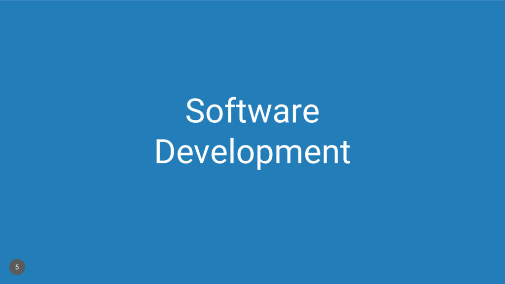 Software Development 5