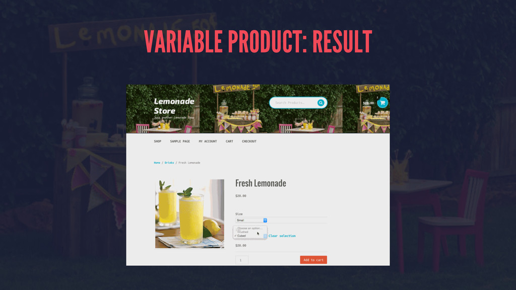 VARIABLE PRODUCT: RESULT