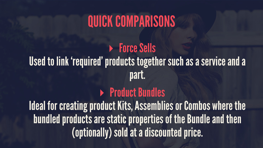 QUICK COMPARISONS ▸ Force Sells Used to link 'r...