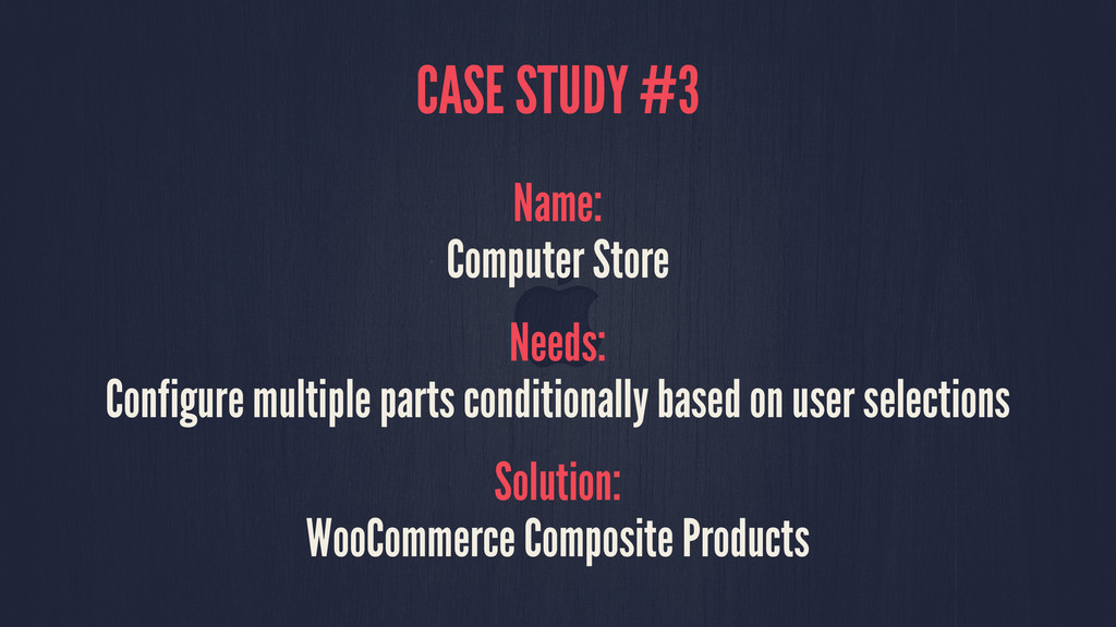 CASE STUDY #3 Name: Computer Store Needs: Confi...