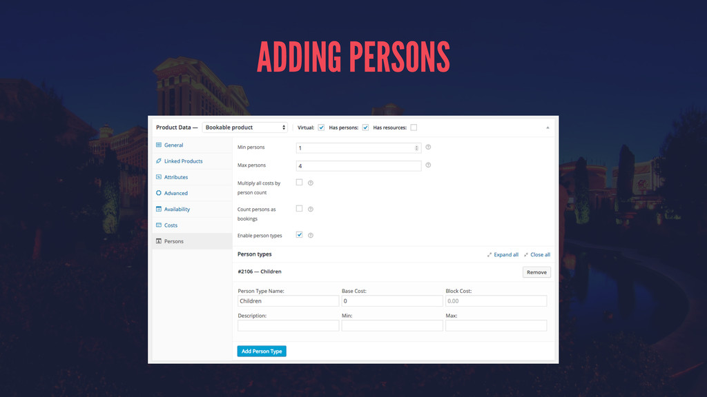 ADDING PERSONS