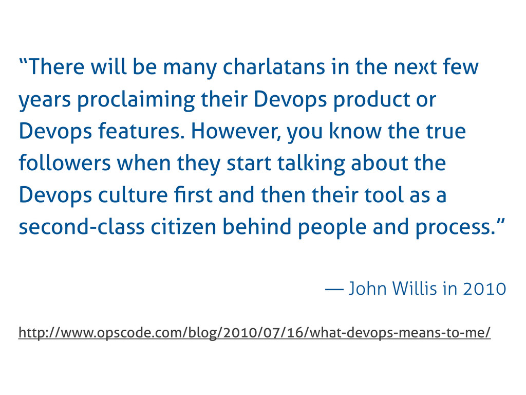 """""""There will be many charlatans in the next few ..."""