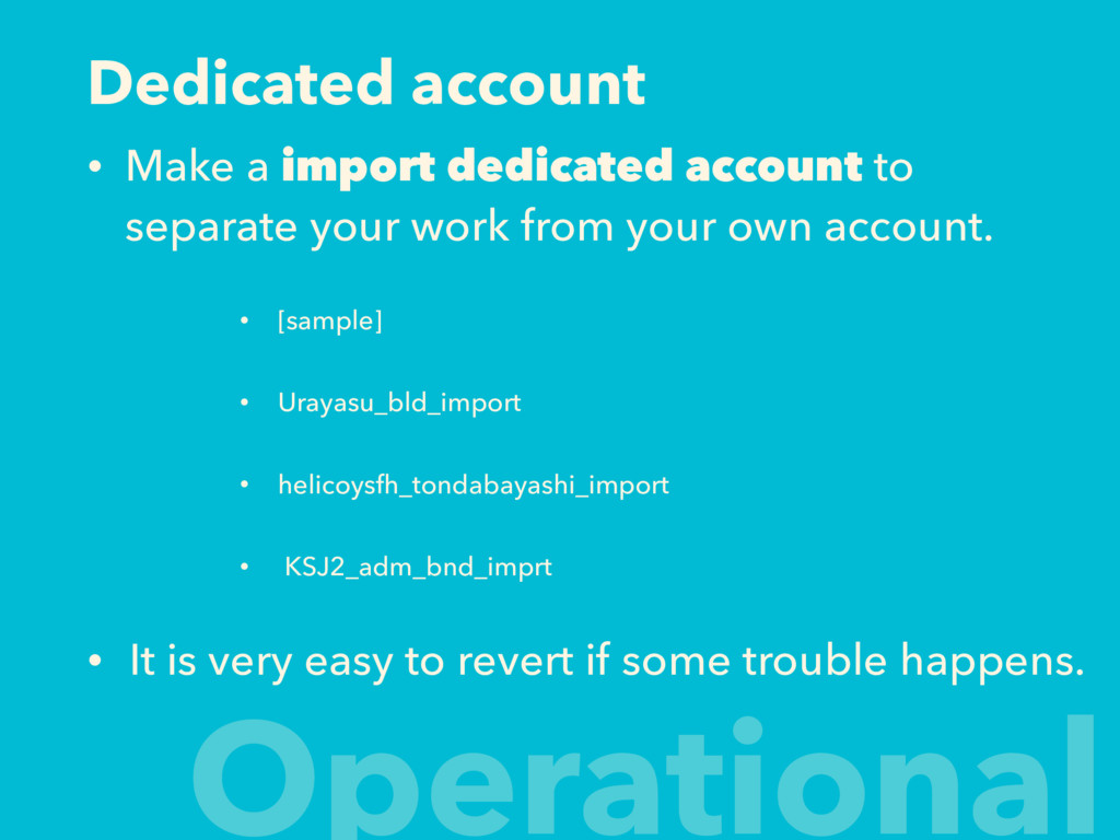 Dedicated account • Make a import dedicated acc...