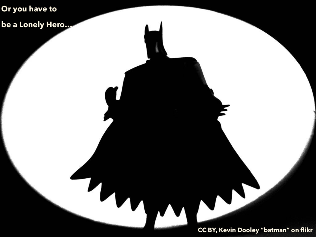 Or you have to be a Lonely Hero… CC BY, Kevin D...