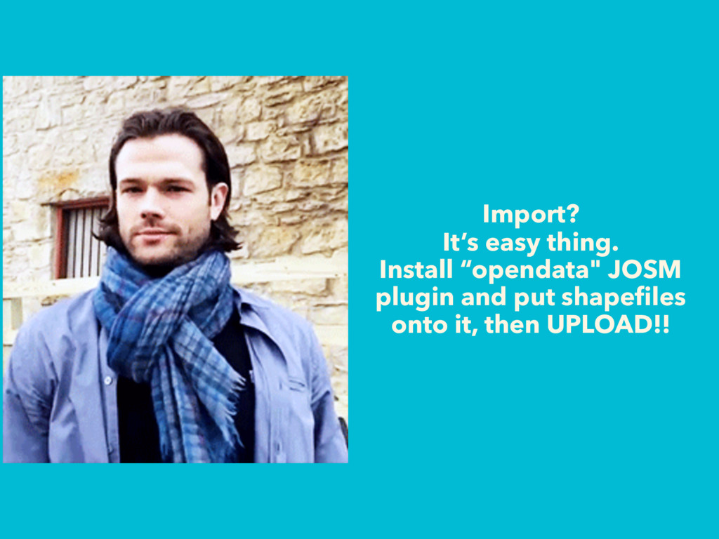 """Import? It's easy thing. Install """"opendata"""" JOS..."""