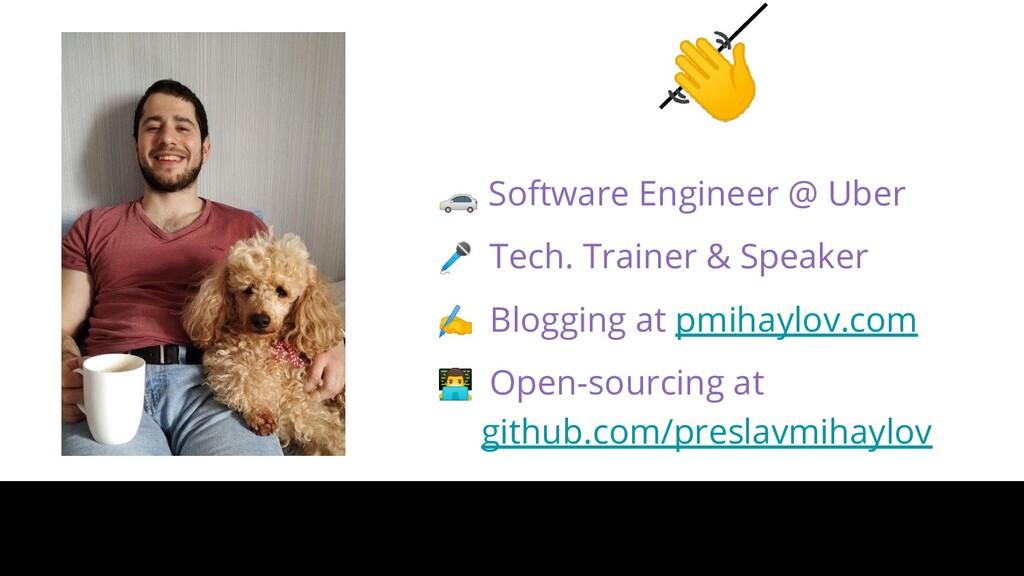 Software Engineer @ Uber  Tech. Trainer & Spe...