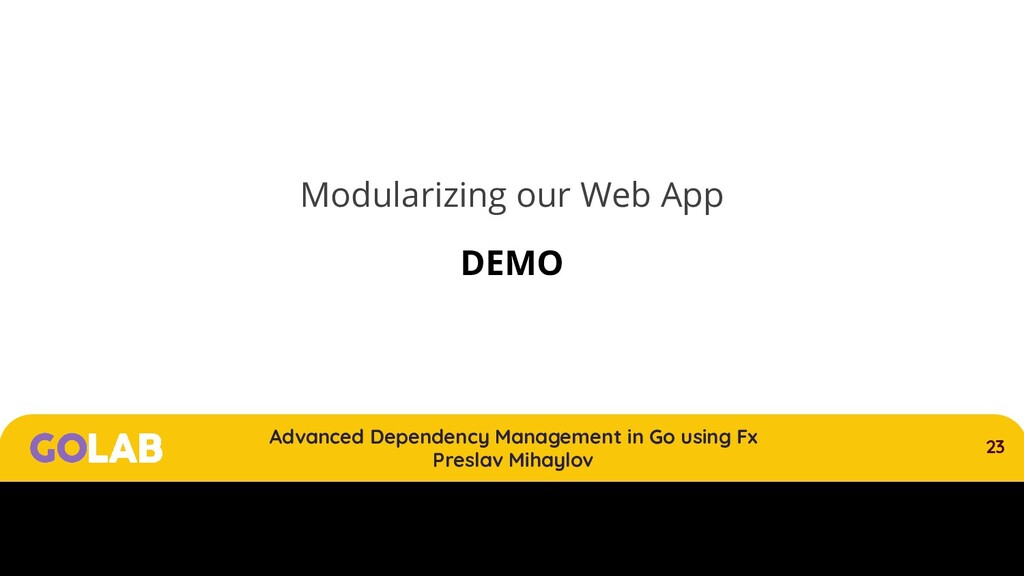 23 Advanced Dependency Management in Go using F...