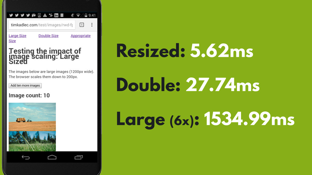 Resized: 5.62ms Double: 27.74ms Large (6x): 153...