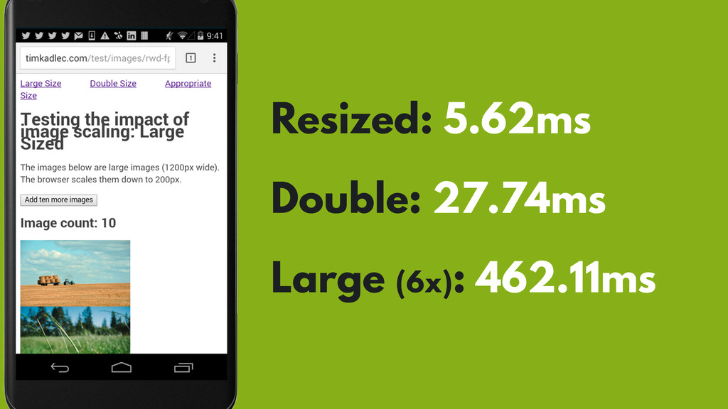 Resized: 5.62ms Double: 27.74ms Large (6x): 462...