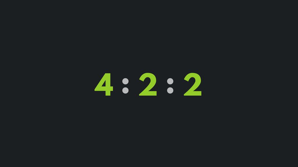 4 : 2 : 2