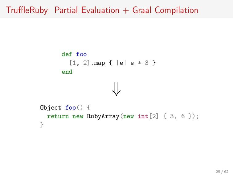 TruffleRuby: Partial Evaluation + Graal Compilati...