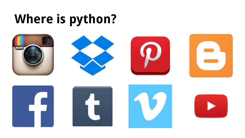 Where is python?