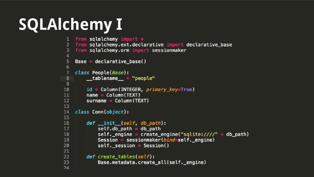 SQLAlchemy I