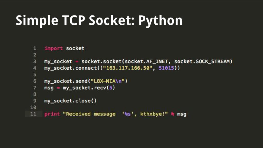 Simple TCP Socket: Python