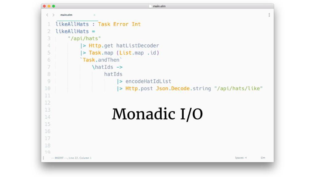 Monadic I/O