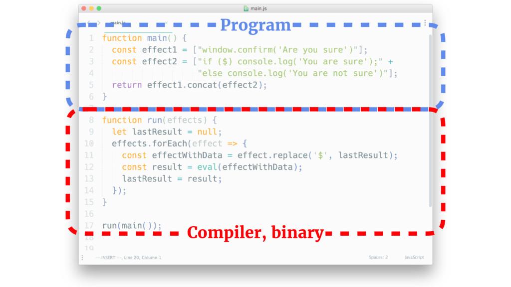 Program Compiler, binary