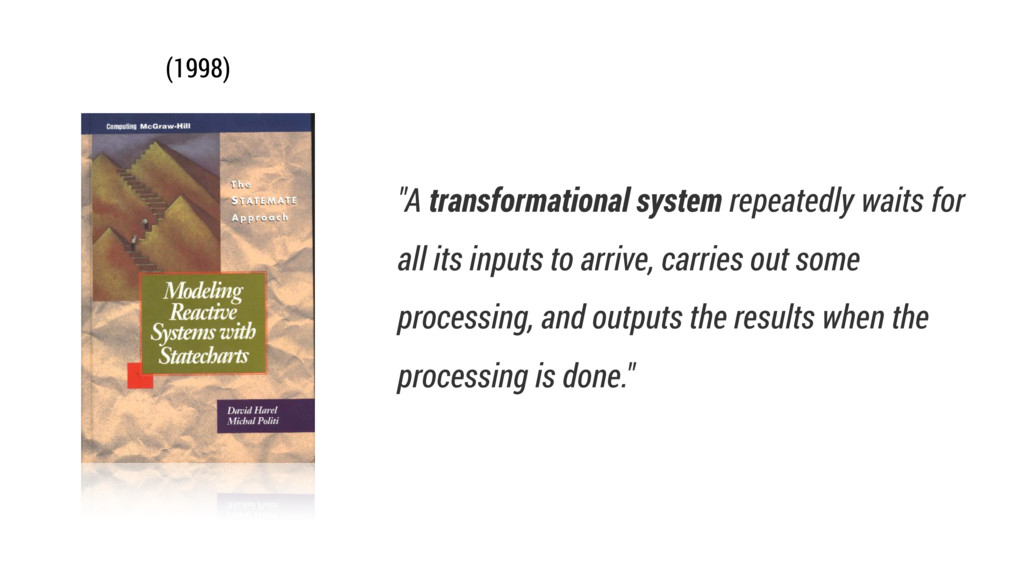 """""""A transformational system repeatedly waits for..."""