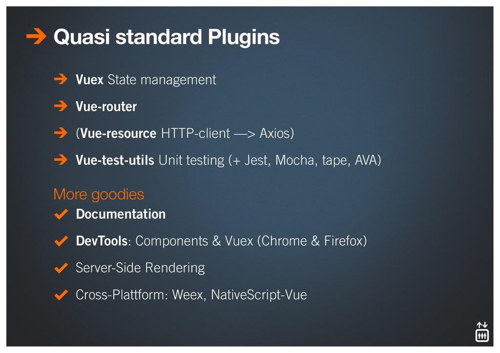 Quasi standard Plugins Vuex State management Vu...