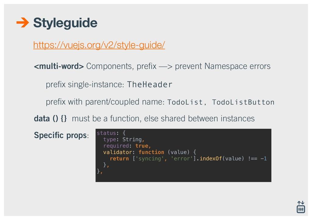 Styleguide <multi-word> Components, prefix —> pr...