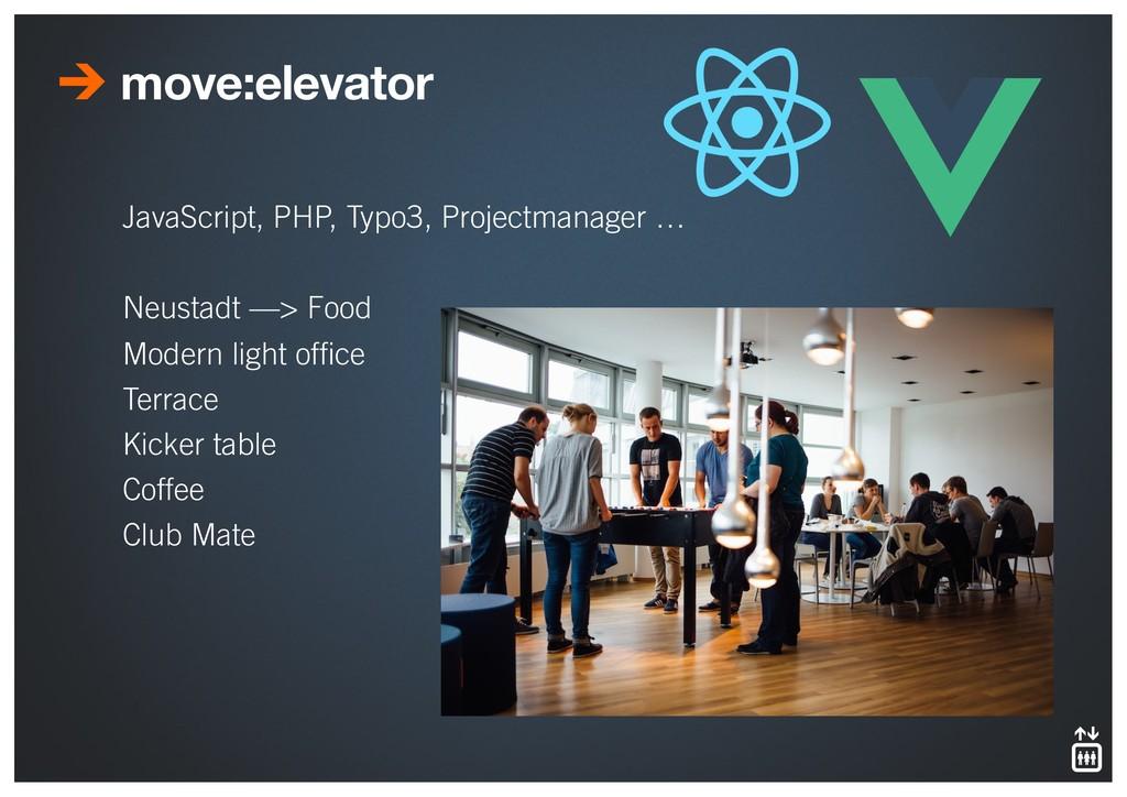 move:elevator JavaScript, PHP, Typo3, Projectma...