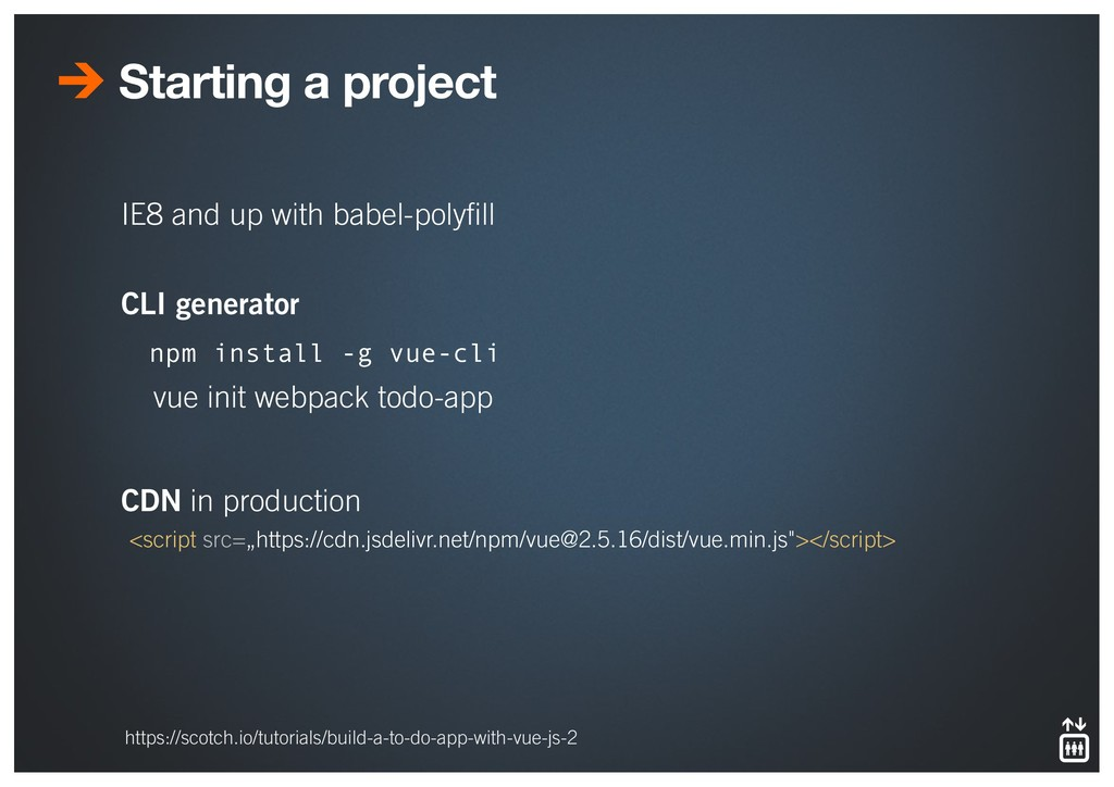 Starting a project IE8 and up with babel-polyfil...
