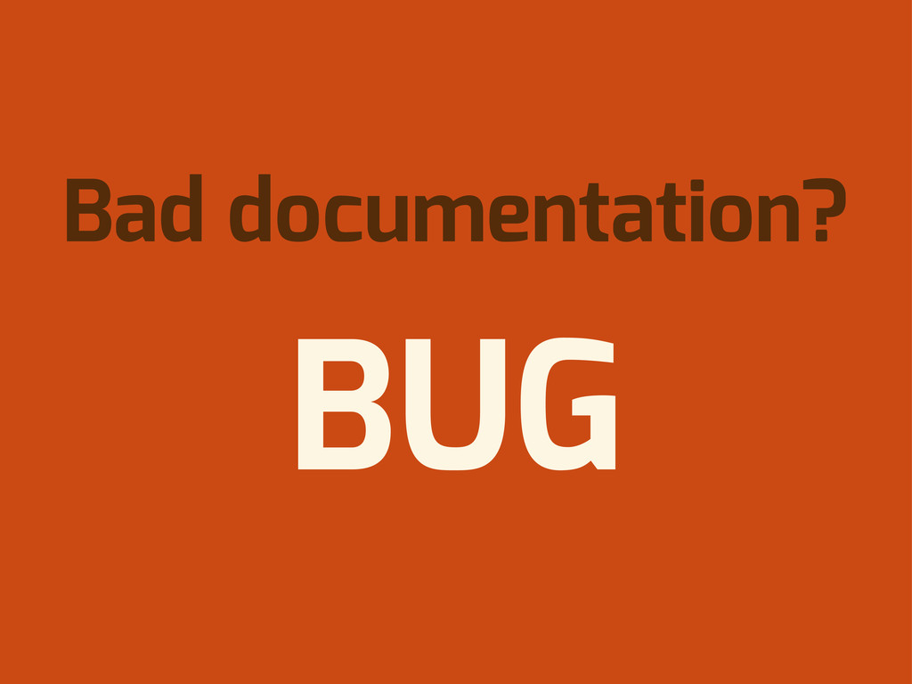 Bad documentation? BUG