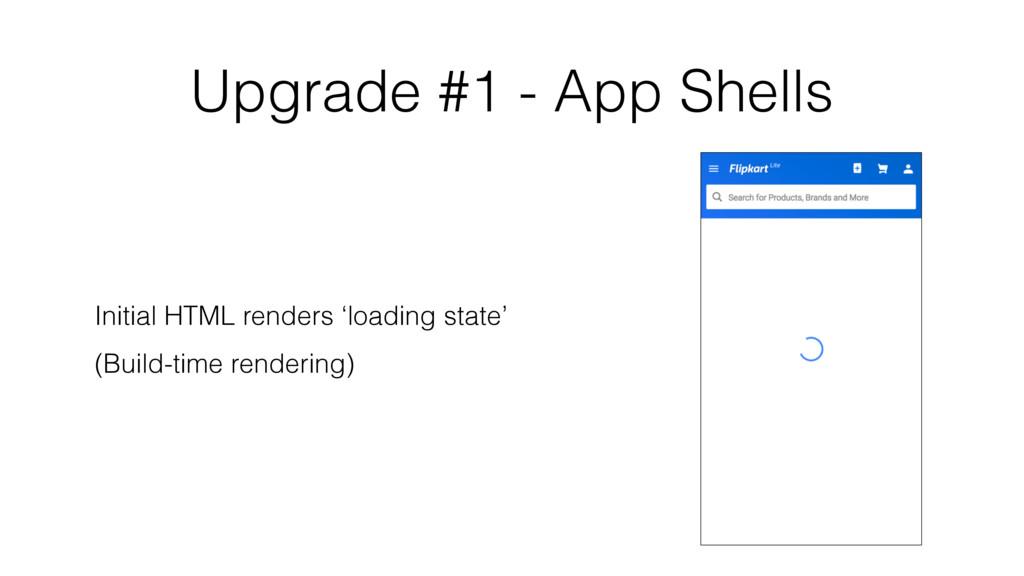 Upgrade #1 - App Shells Initial HTML renders 'l...
