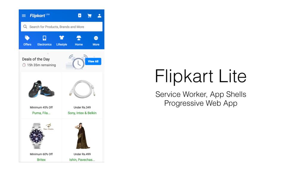Flipkart Lite Service Worker, App Shells Progre...