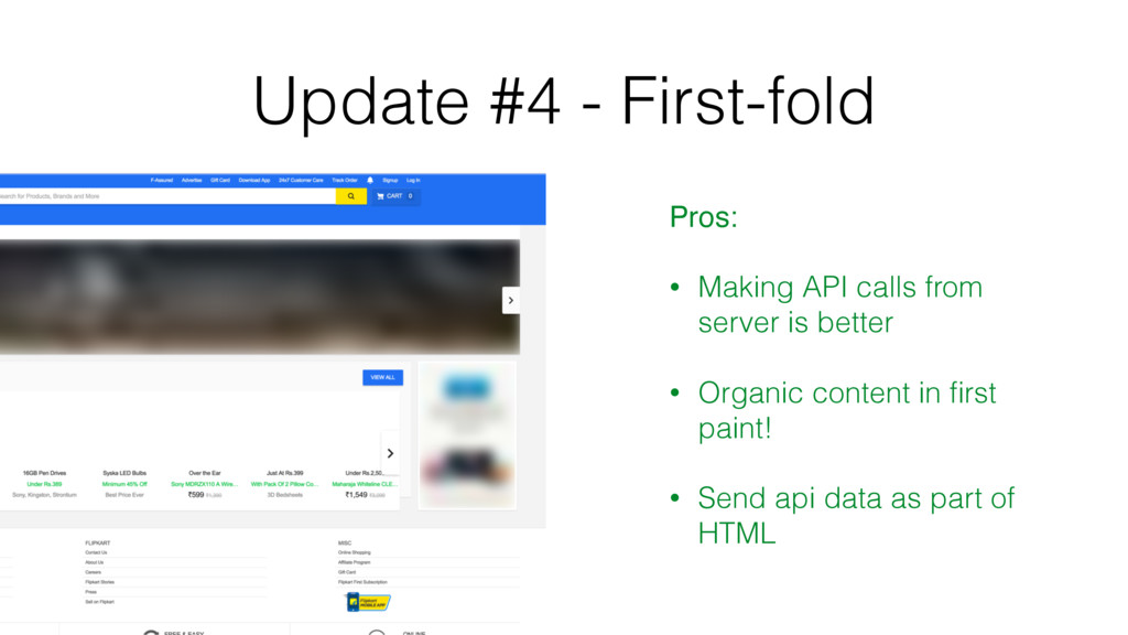 Update #4 - First-fold Pros: • Making API calls...