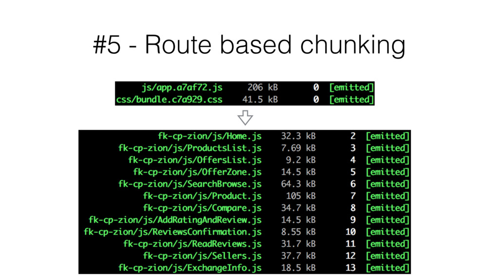 #5 - Route based chunking