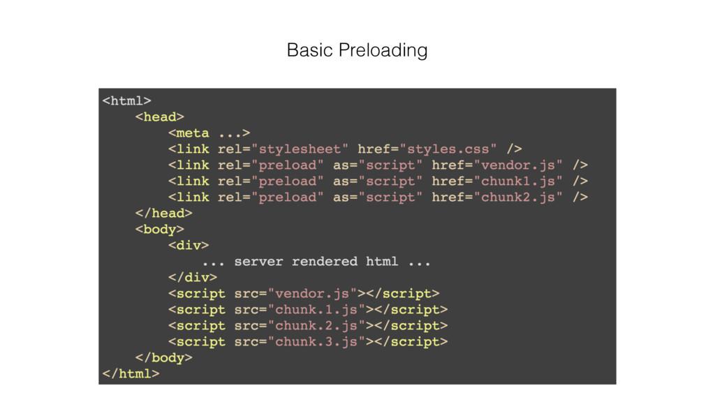 Basic Preloading