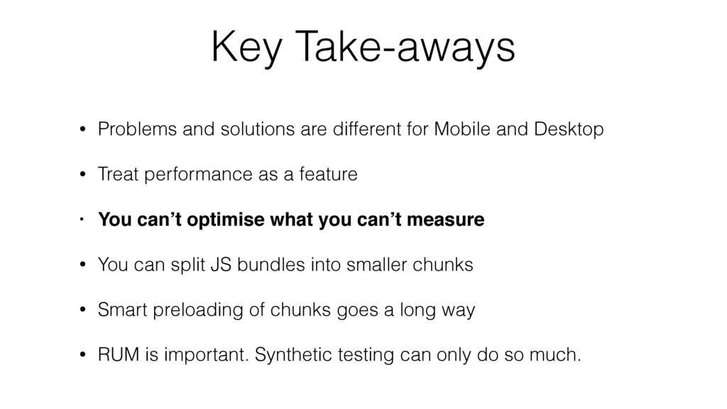 Key Take-aways • Problems and solutions are dif...