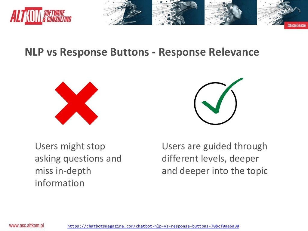 NLP vs Response Buttons - Response Relevance Us...