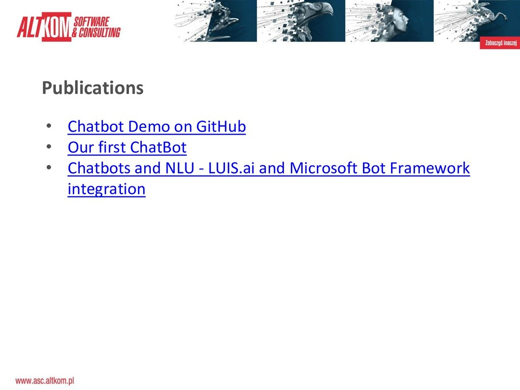 Publications • Chatbot Demo on GitHub • Our fir...