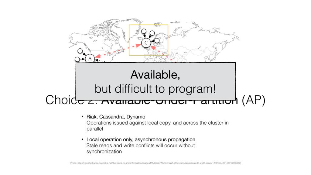 A B C Choice 2: Available-Under-Partition (AP) ...