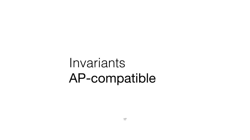 Invariants AP-compatible 17