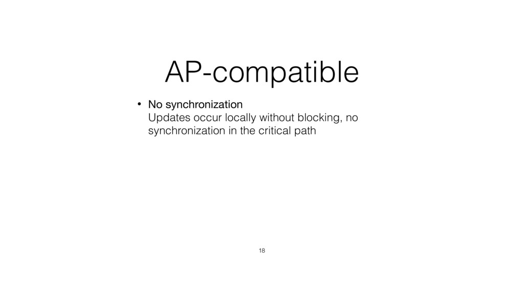 AP-compatible • No synchronization