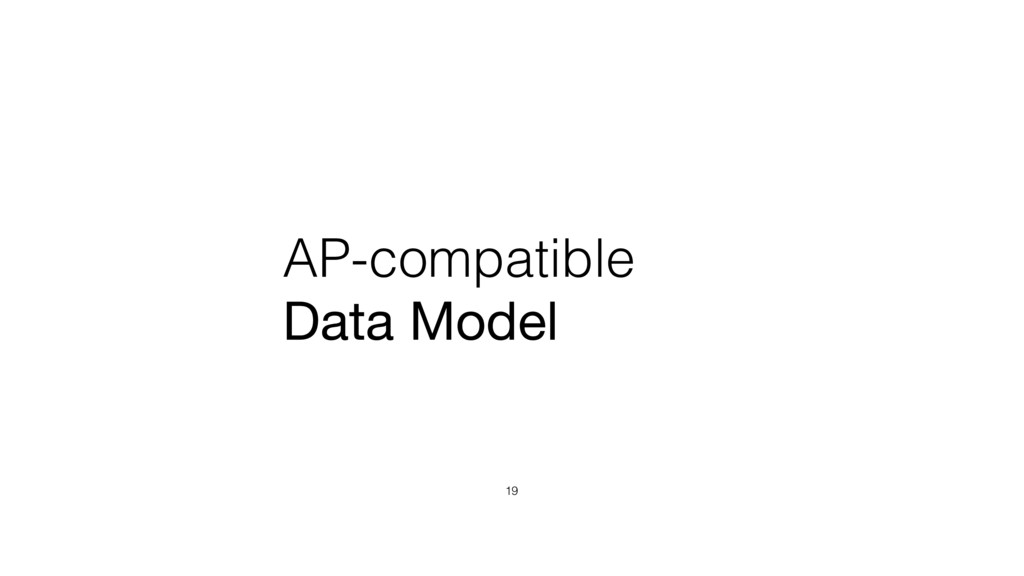 AP-compatible Data Model 19