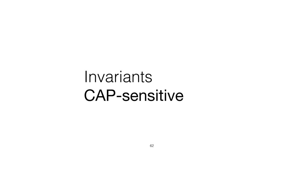 Invariants CAP-sensitive 62