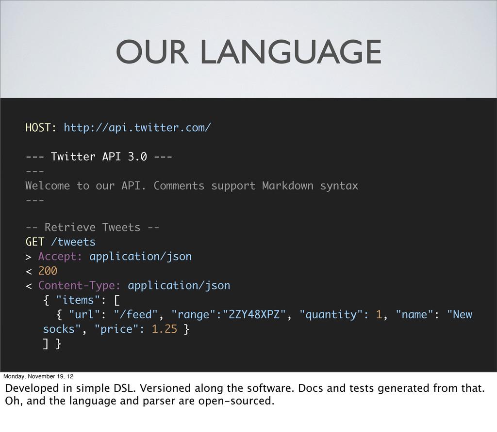OUR LANGUAGE HOST: http://api.twitter.com/ --- ...