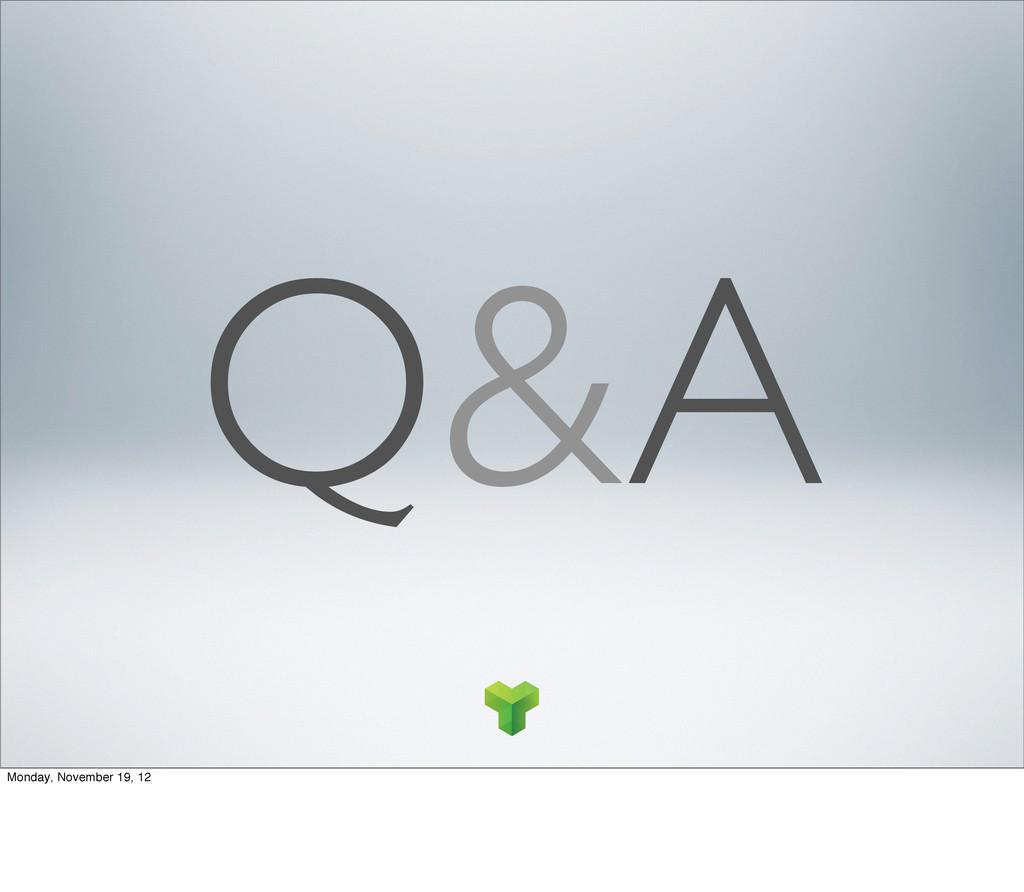 Q&A Monday, November 19, 12