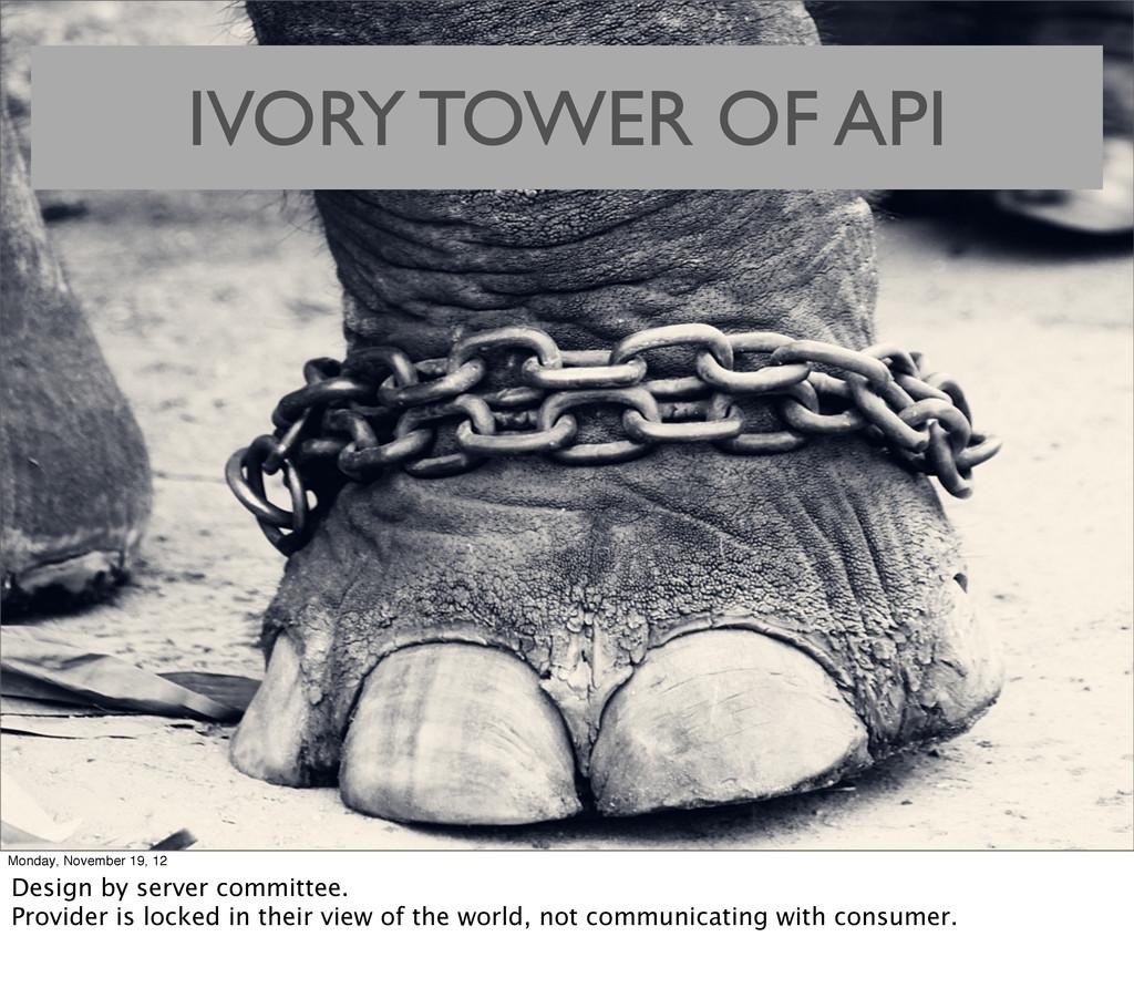 IVORY TOWER OF API Monday, November 19, 12 Desi...