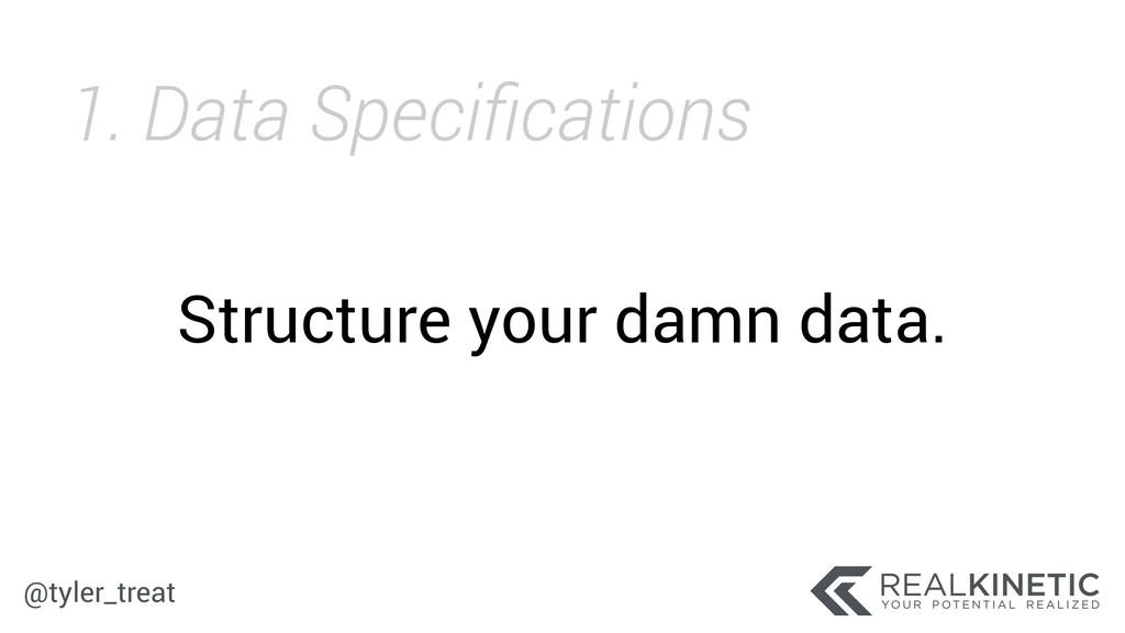 @tyler_treat Structure your damn data. 1. Data ...