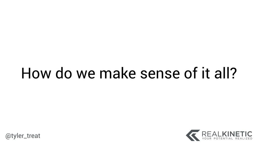 @tyler_treat How do we make sense of it all?