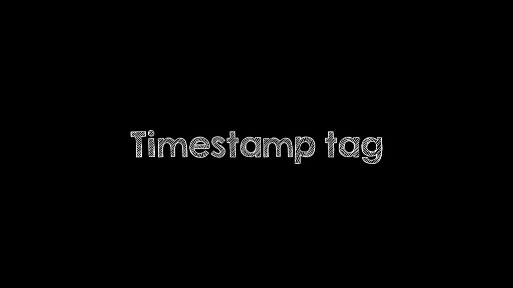 Timestamp tag