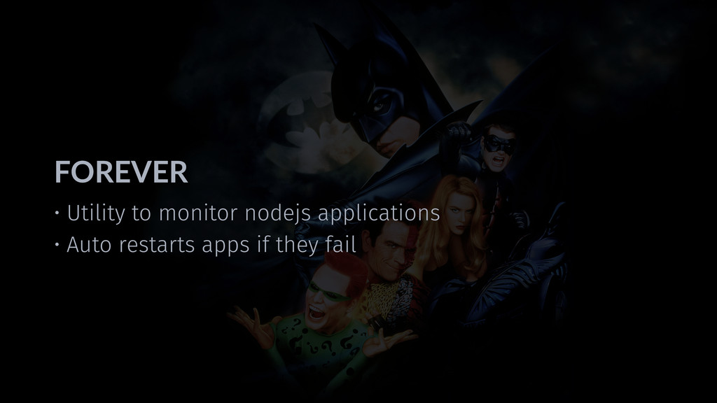 • Utility to monitor nodejs applications • Auto...
